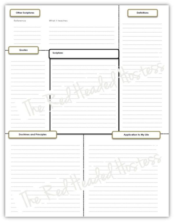 Template 2 - Single Scripture Verse Study Sheet (Boy Version)