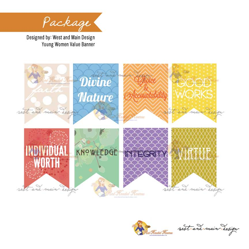 Young Women Values Banner Package