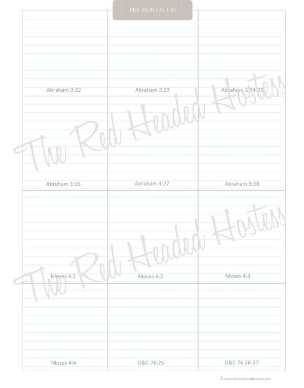 Premortal Life Scripture Journal Box - The Red Headed Hostess (Simple Theme)