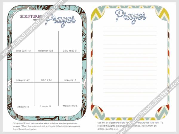 Prayer Journal Cards