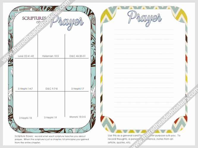 Prayer Journal Cards