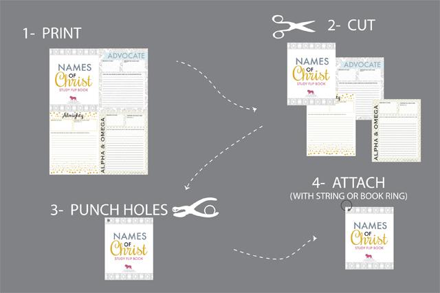 FLIPBOOK-Names of Christ (Boy Version)