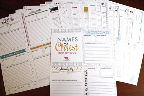 FLIPBOOK-Names of Christ (Boy/Girl Combo Package)