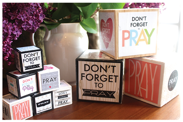 Prayer prints and DIY Prayer Blocks