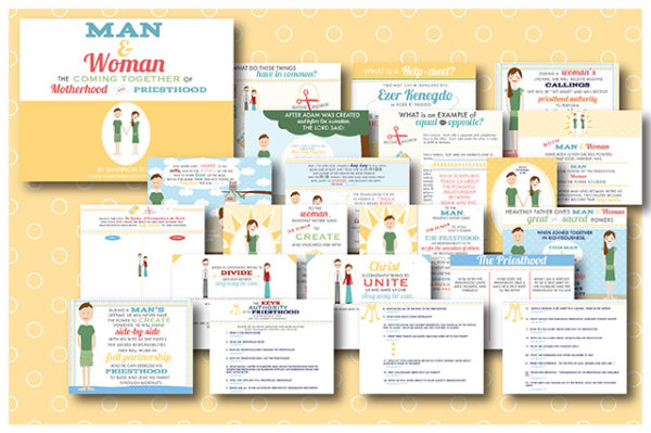 COMBO: Man and Woman: the coming together of Motherhood and Priesthood FLIPBOOK/Teacher version