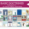 Basic Doctrines poster and stickers (package 1)