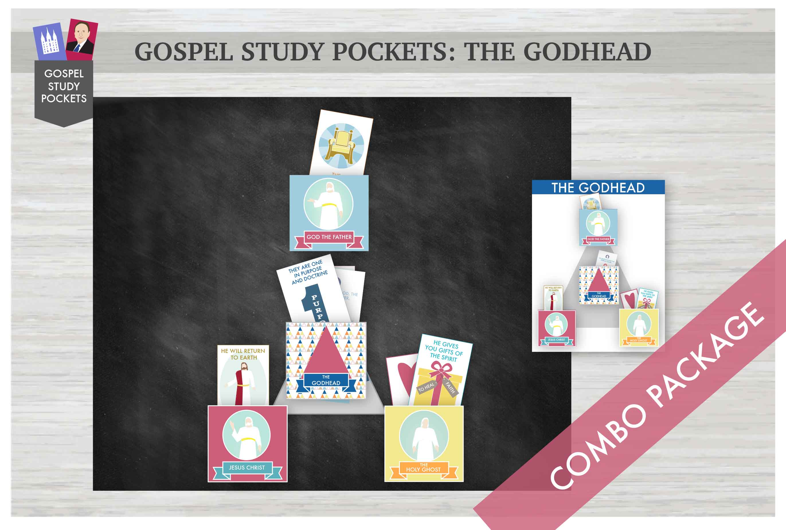 Gospel Study Pockets -The Godhead COMBO Package