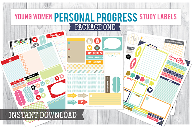 Personal Progress Study Labels Package 1