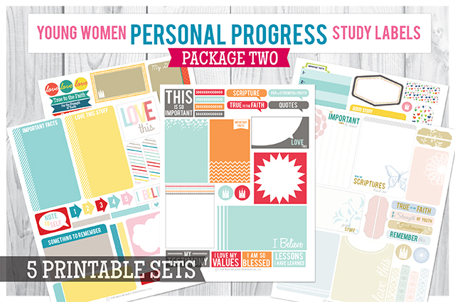 Personal Progress Study Labels Package 2