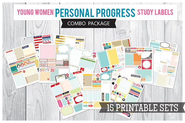 COMBO: Personal Progress Study Labels Packages 1,2,3