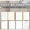 Study by Chapter and Topic Scripture Study COMBO Package