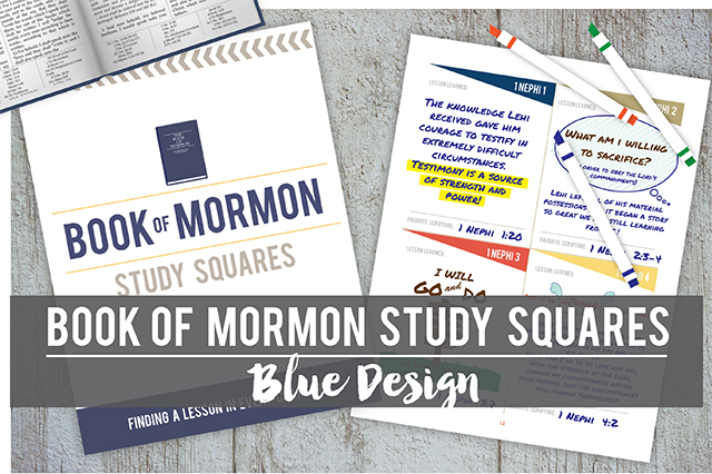 Book of Mormon Study Squares: Blue Design