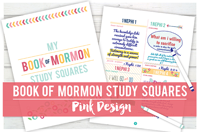 Book of Mormon Study Squares: Pink Design