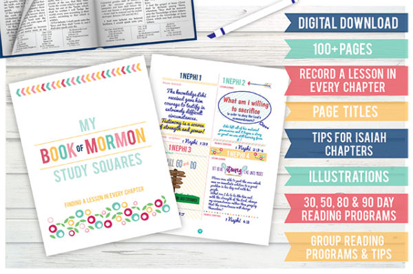 Book of Mormon Study Squares: Pink Design