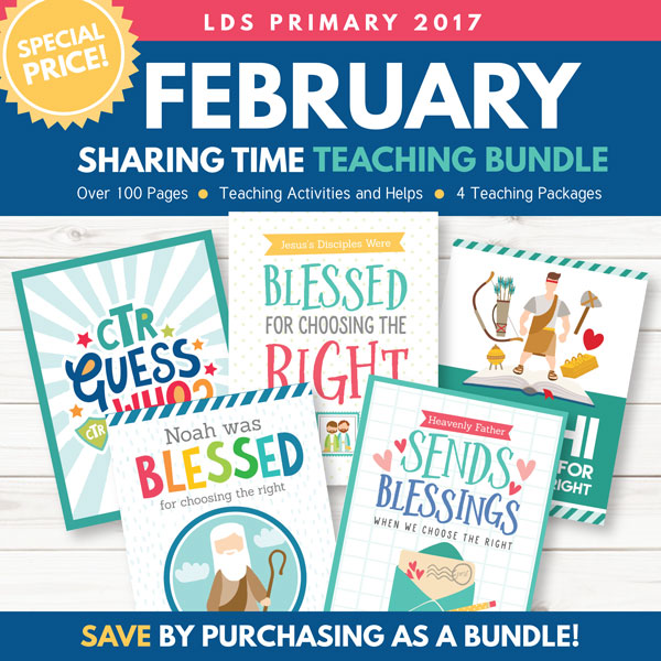 February 2017 Sharing Time Combo Package - 4 Awesome Lesson Kits!