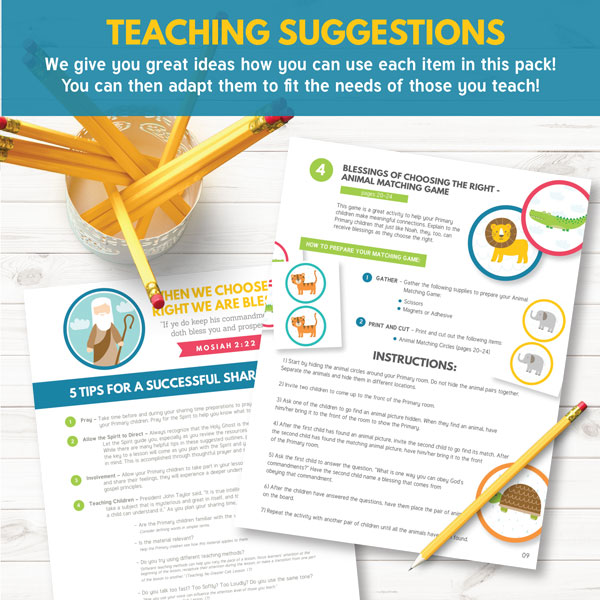 LDS Primary Teaching Suggestions and Ideas for February
