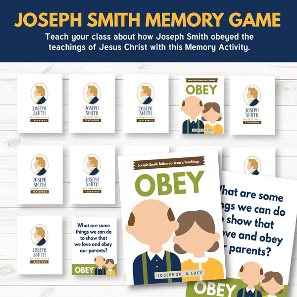 Primary 3 Lesson 4 - Joseph Smith's Childhood Memory Game