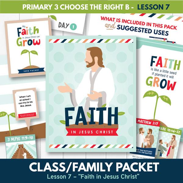 Primary 3 Lesson 7 (Faith in Jesus Christ)