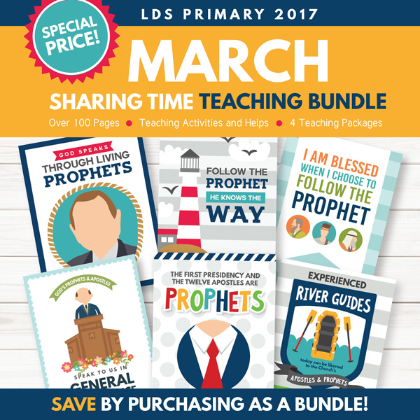 March 2017 Sharing Time Combo Package - 4 Awesome Lesson Kits!