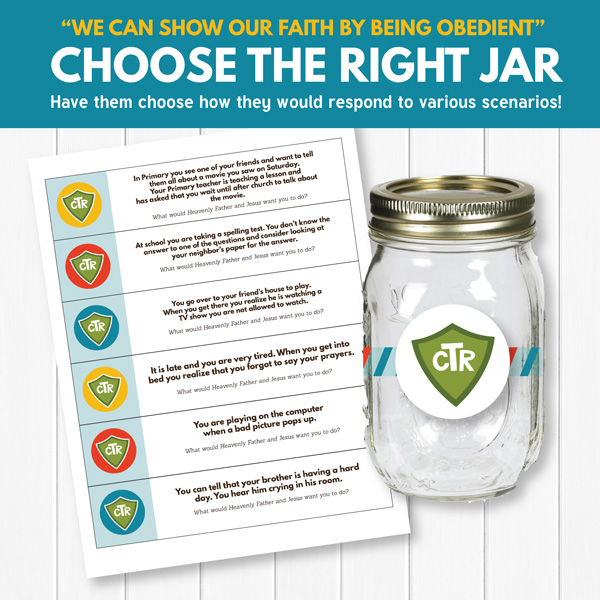 Choose the Right Jar - LDS Primary Lesson Ideas (Primary 3 Lesson 16)