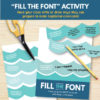 Fill The Font Activity - Primary 3 Lesson 13 (My Baptismal Covenant)