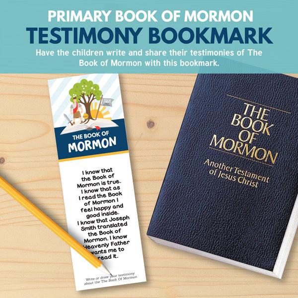 Primary Book of Mormon Bookmark - Perfect for Primary 3 (Lesson 15)