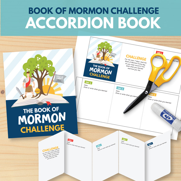The Book of Mormon Challenge Accordion Book - Perfect for Primary children!
