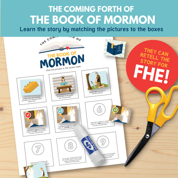 The Coming Forth of the Book of Mormon Activity - Primary 3 Lesson 16