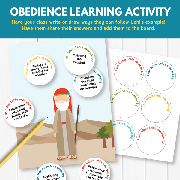 We Can Show Our Faith By Being Obedient Activity Idea (Primary 3 Lesson 16)