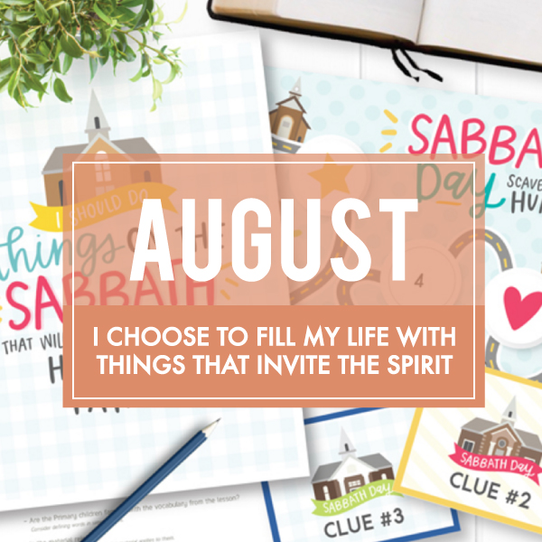 August Sharing Time