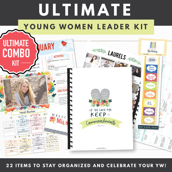 2019 Ultimate Young Women Leader Kit Combo Kit Pdf Downloads The Red Headed Hostess