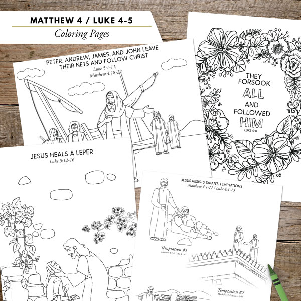 Bible Story Coloring Pages: Winter 2018-2019 - Illustrated Ministry | 600x600